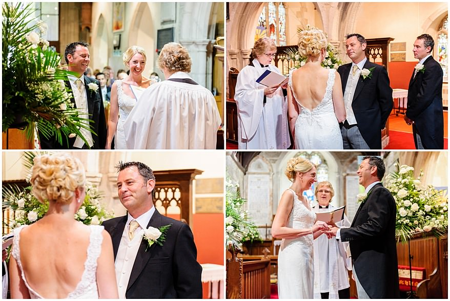 St Mewan Church wedding ceremony