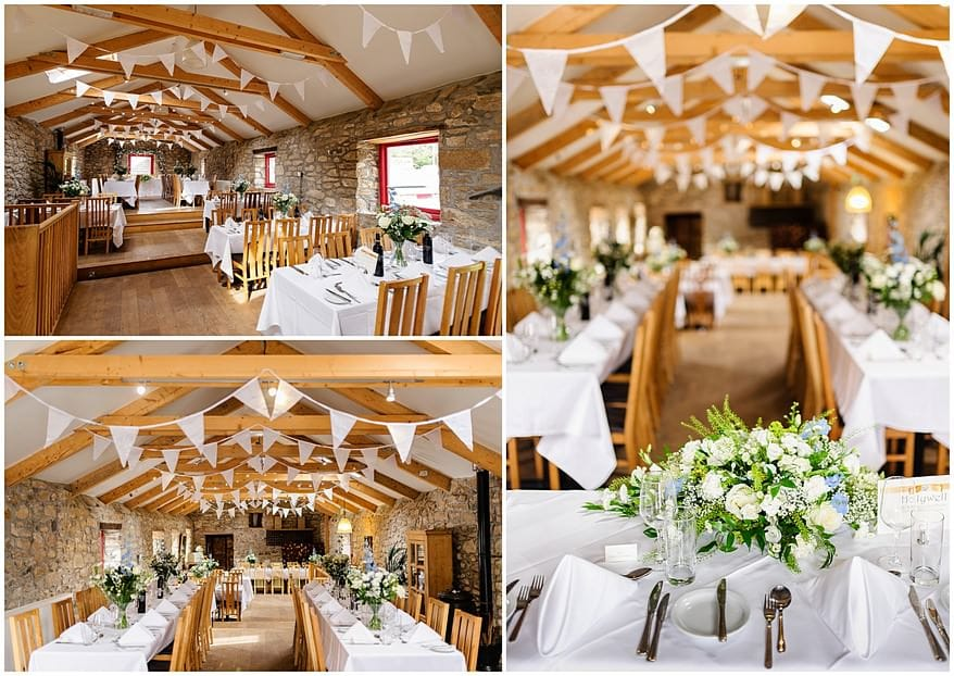 wedding decorations at Knightor winery wedding venue