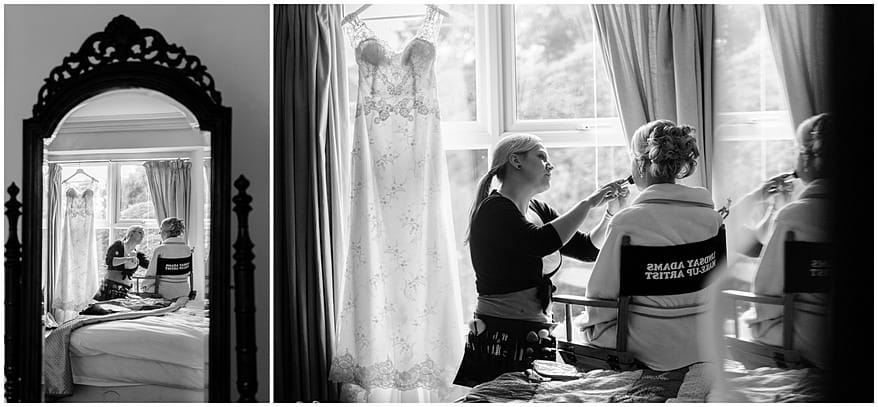 wedding make up photographs by Lindsay Adams