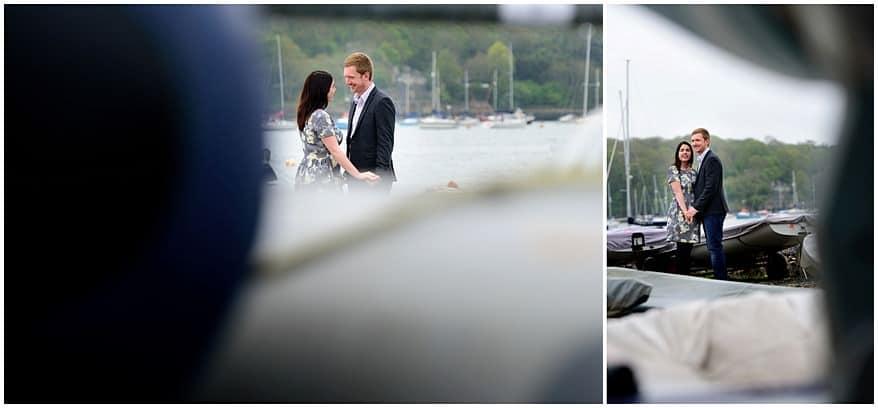 Pre wedding shoot at Saltash sail club