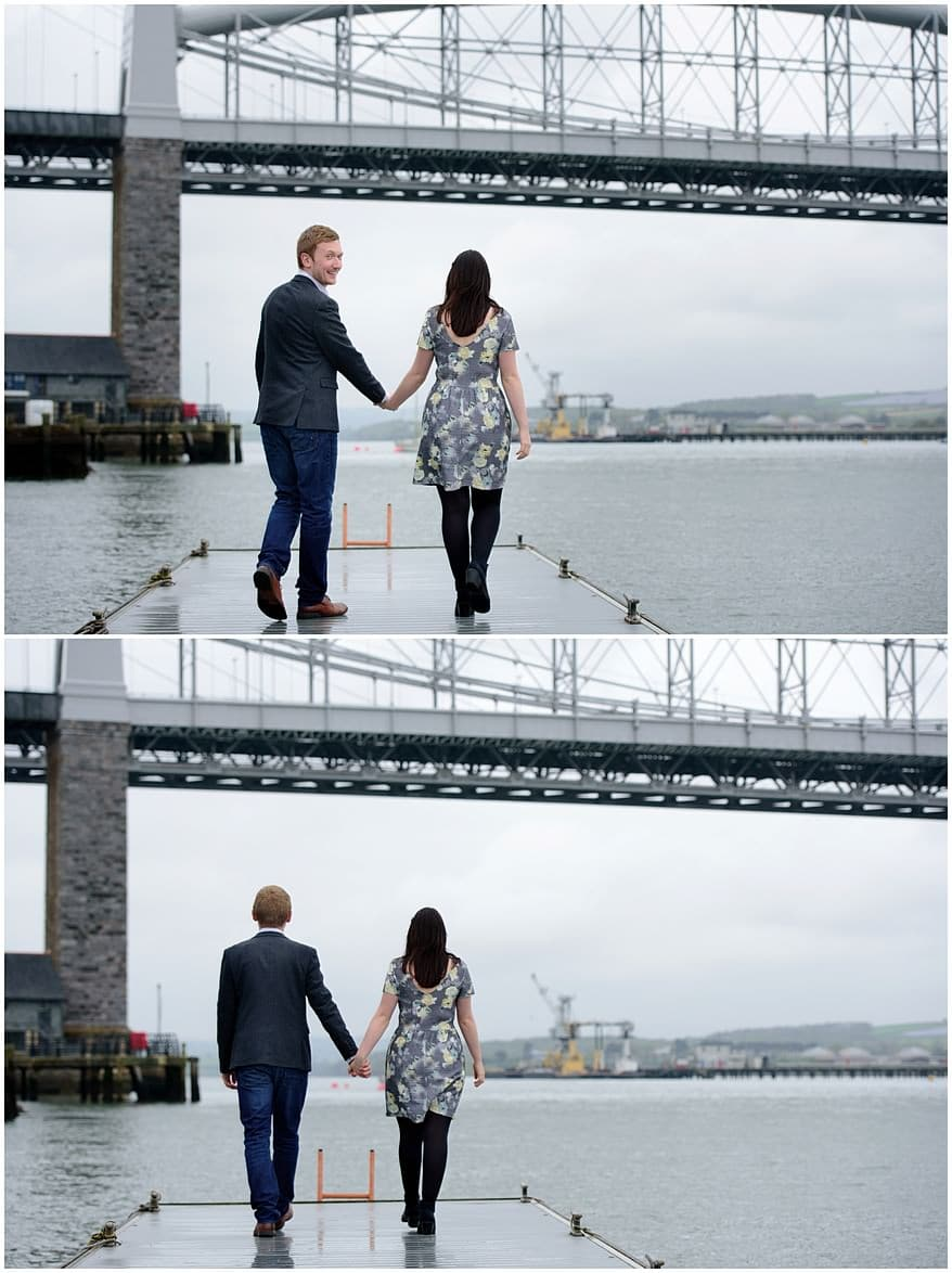 Engagment photographs on the pontoons at Saltash sail club