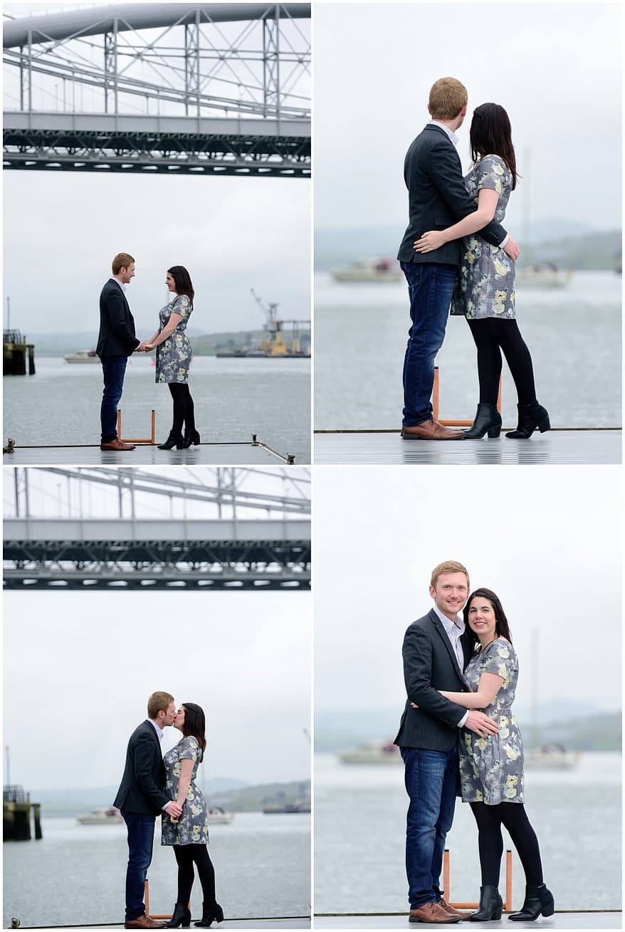 Engagement shoot with the Tamar bridge as a backdrop