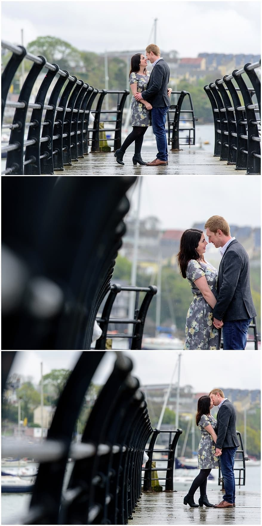 Engagement shoot on the pier in Saltash