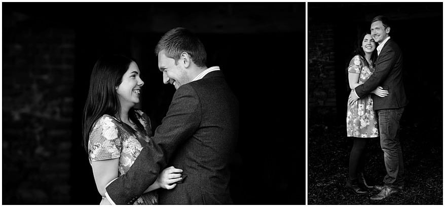 black and white photograph of a couple on their pre wedding shoot