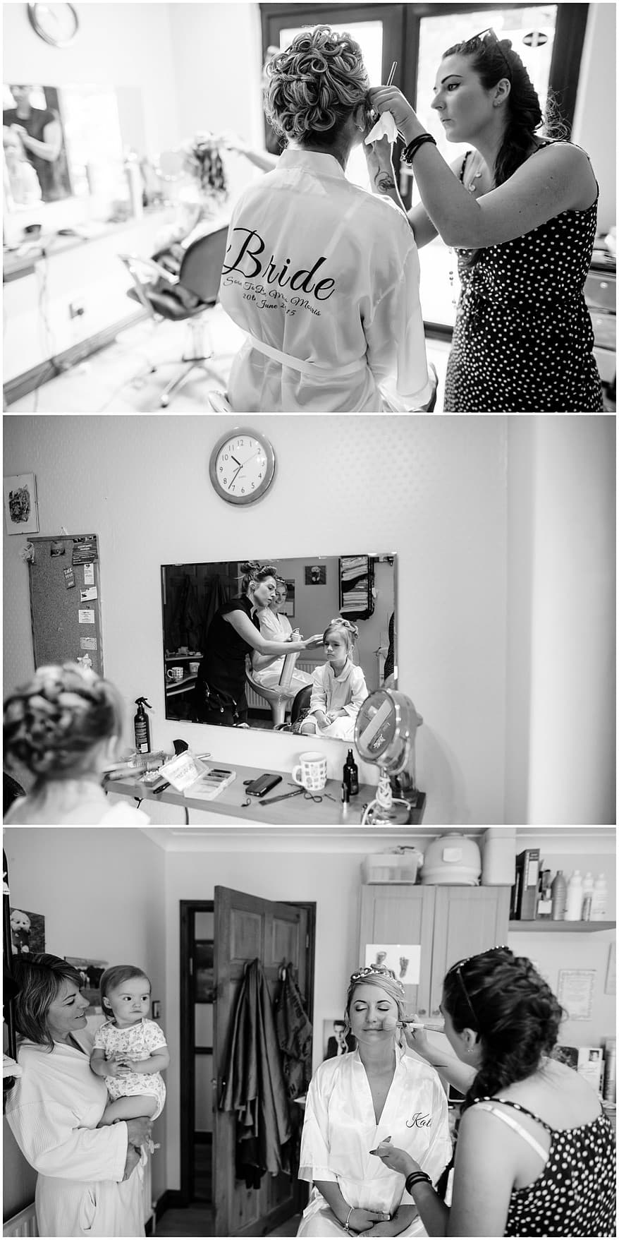 Bride and her daughter getting ready for a Greenbank Hotel wedding