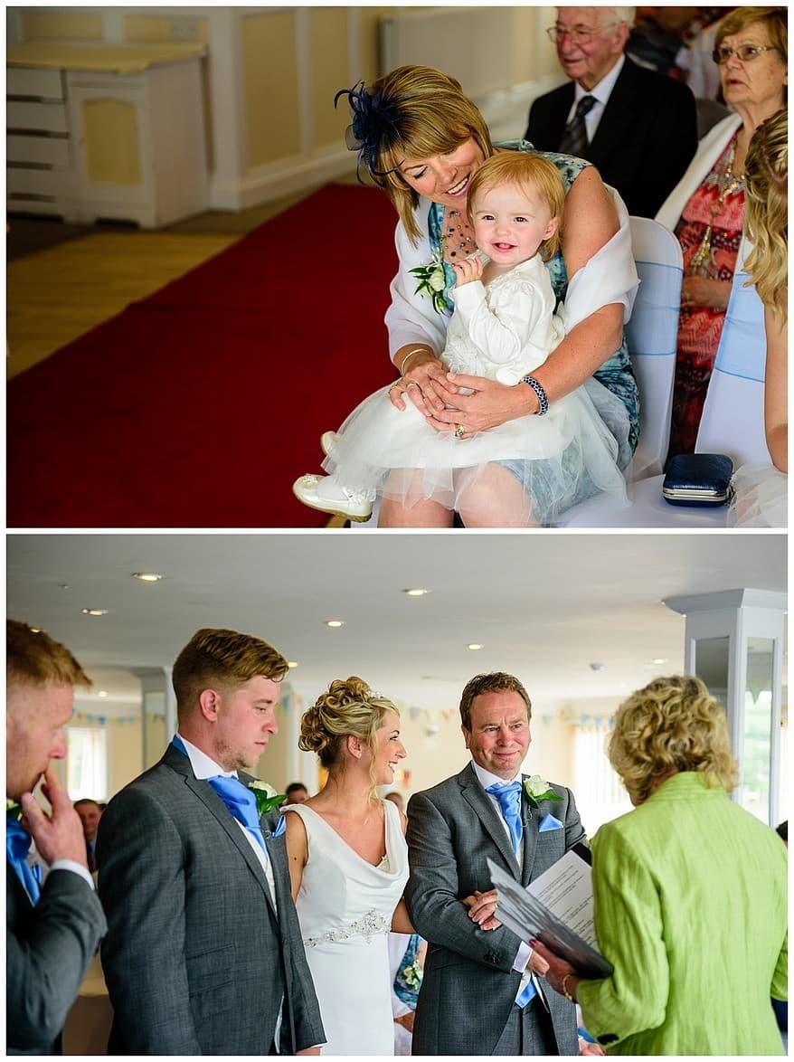 Bridal party at the wedding at the Greenbank Hotel