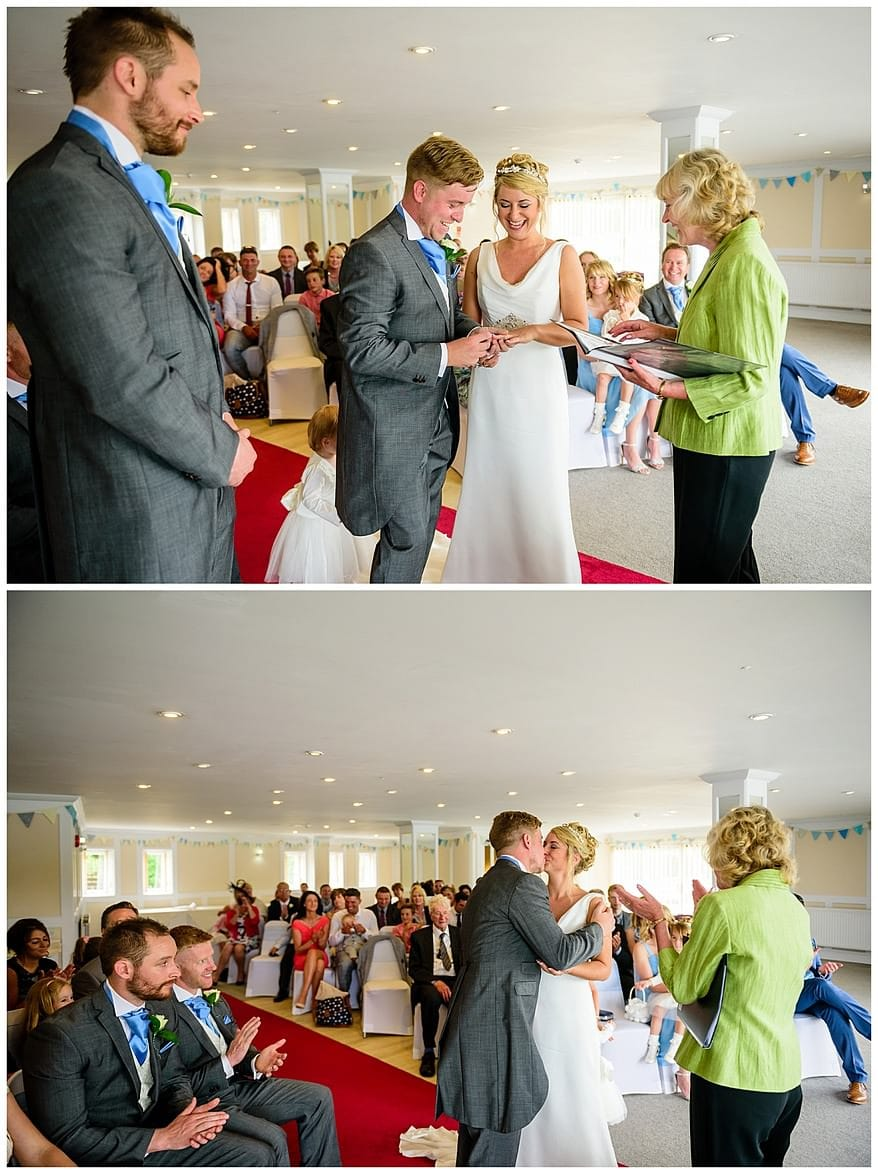 Wedding ceremony at the Greenbank Hotel
