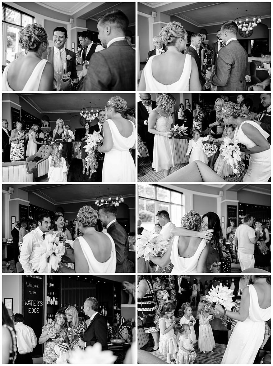 wedding party at the Greenbank hotel