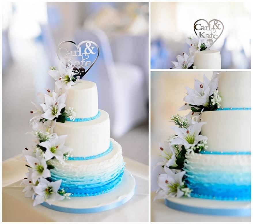 wedding cake at the Greenbank Hotel