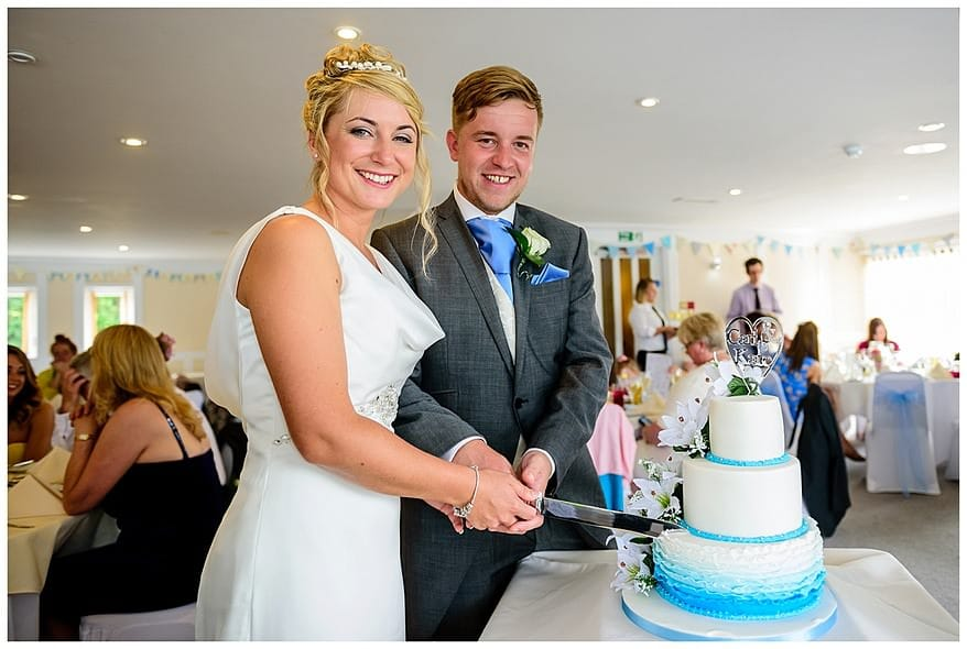 Cake cutting for a wedding at the Greenbank Hotel