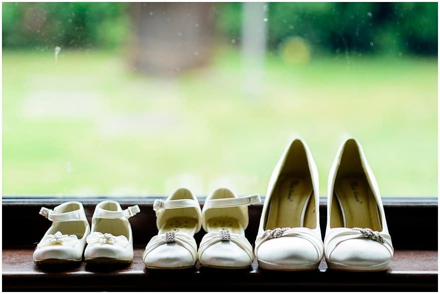 wedding shoes at a Greenbank hotel wedding