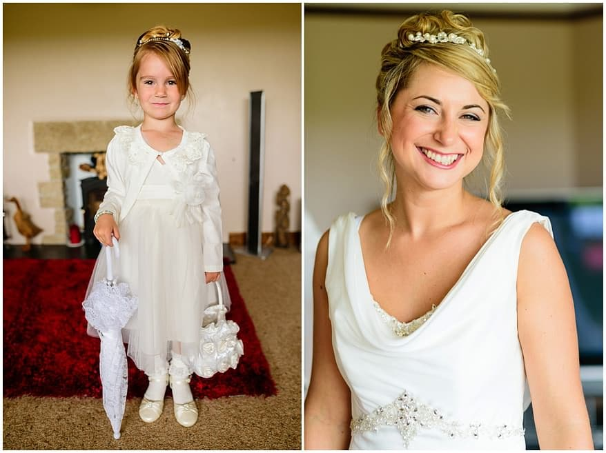 beautiful bride and her daughter getting ready for her wedding at the Greenbank hotel