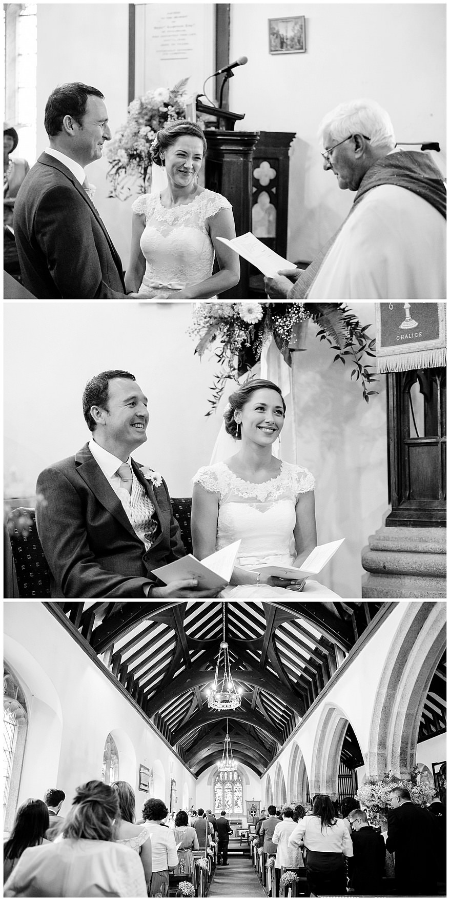 Wedding ceremony at Perranwell Church