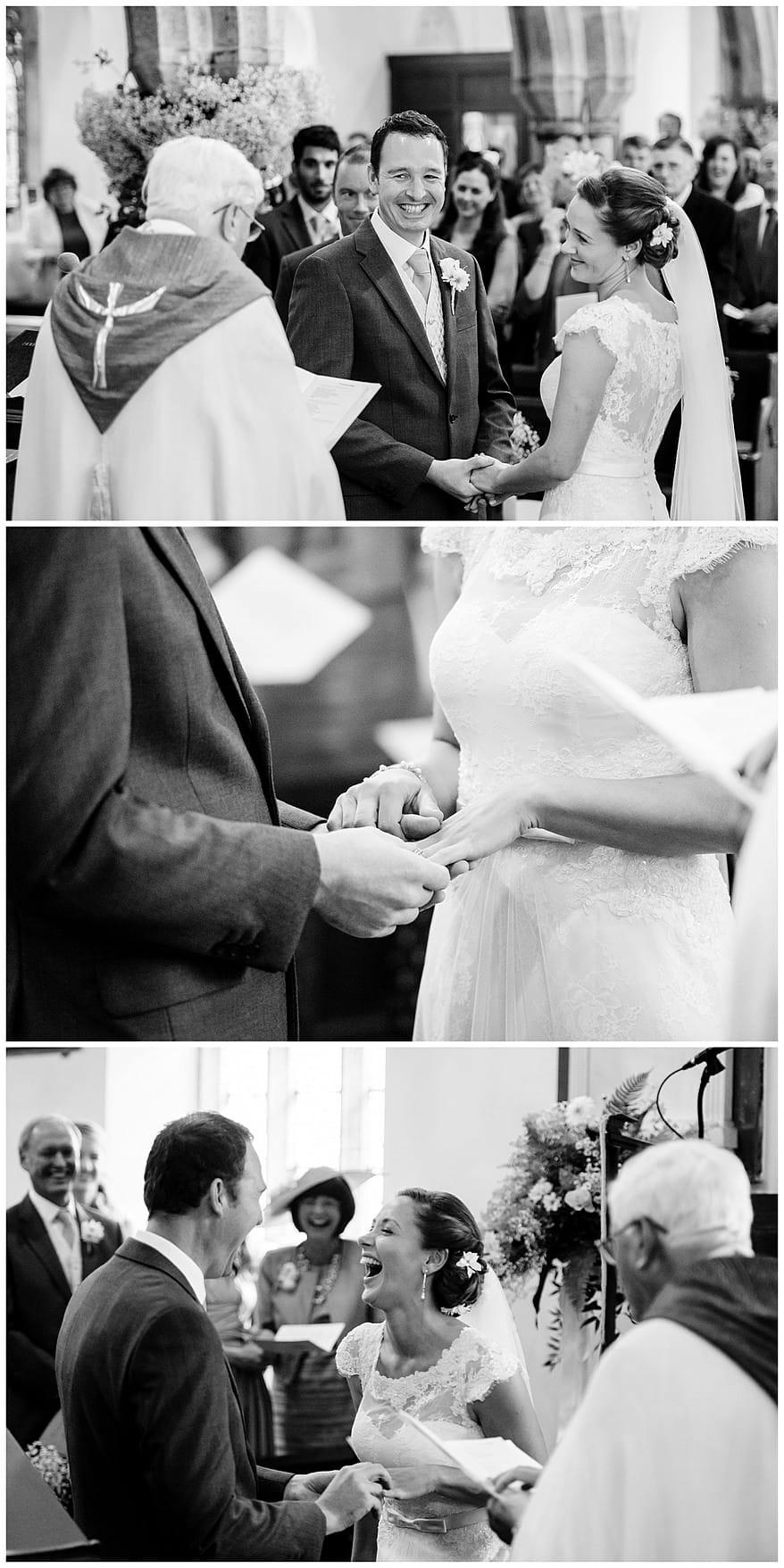Perranwell Church wedding Ceremony