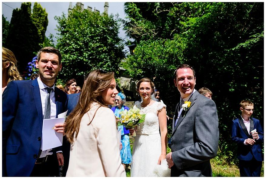 Wedding guest at Perranwell Church