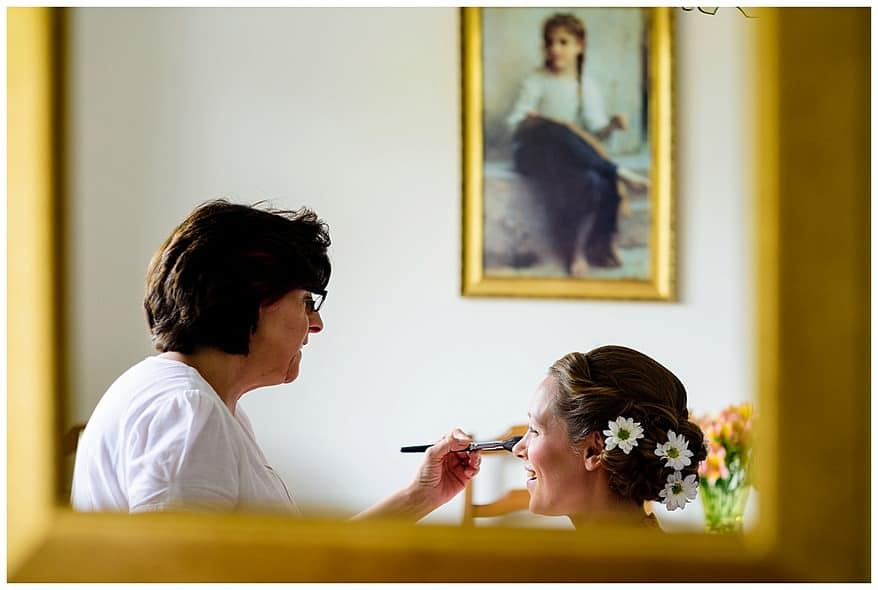 Penny Pascoe make up at a Rose in Vale wedding