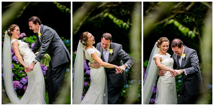 wedding photography at the rose in vale hotel