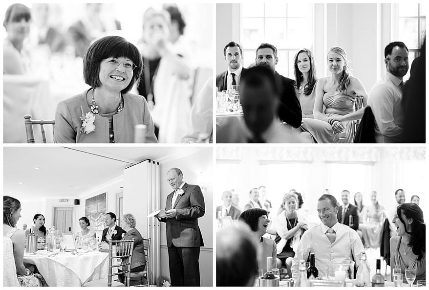 wedding speeches at the rose in vale country house hotel