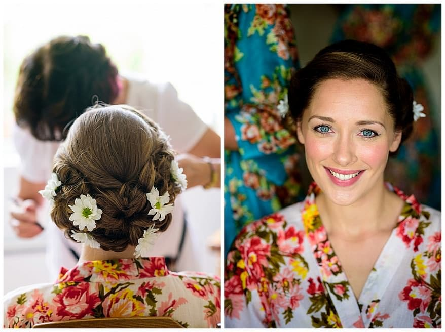 Make up by Penny Pascoe for a rose in vale wedding