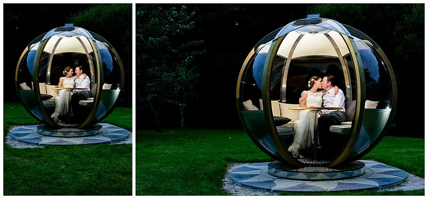 Garden pod at the rose in vale hotel