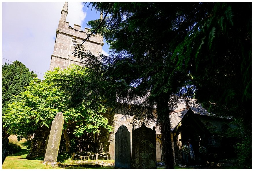 Perranwell church wedding