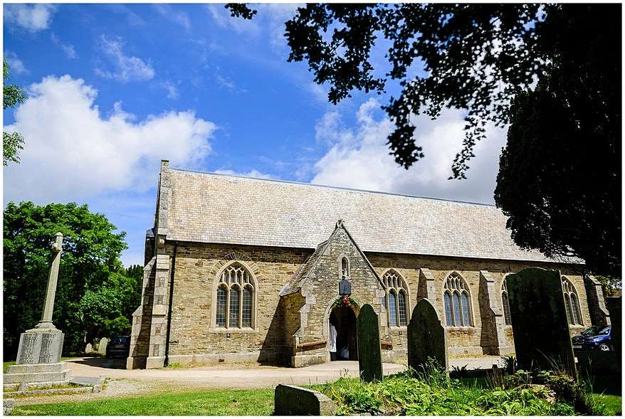 Wedding at St Illogan parish church