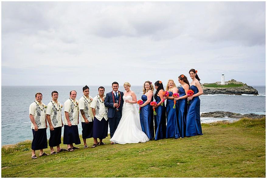 Wedding photographs at Godrevy