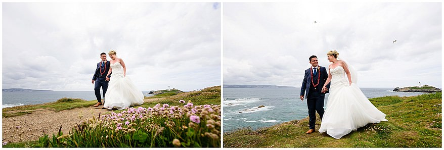 Stunning wedding pictures at Godrevy in cornwall