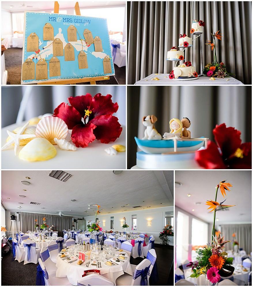 Samoan wedding themed decotations