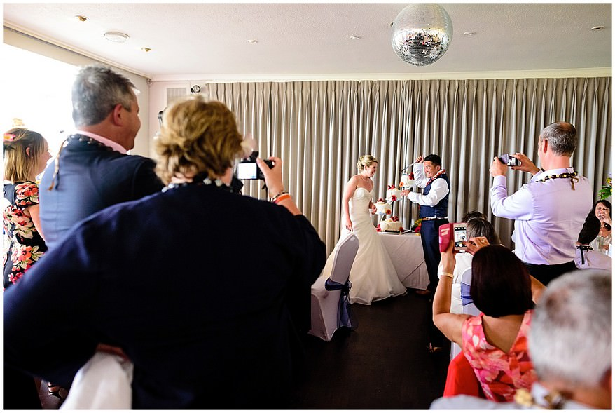 Cake cutting at the Merchants manor in falmouth