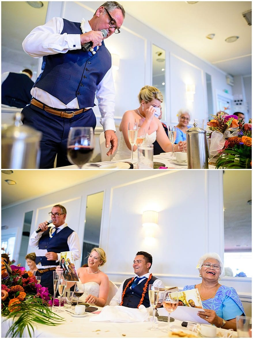 Happy wedding speeches at Merchants manor