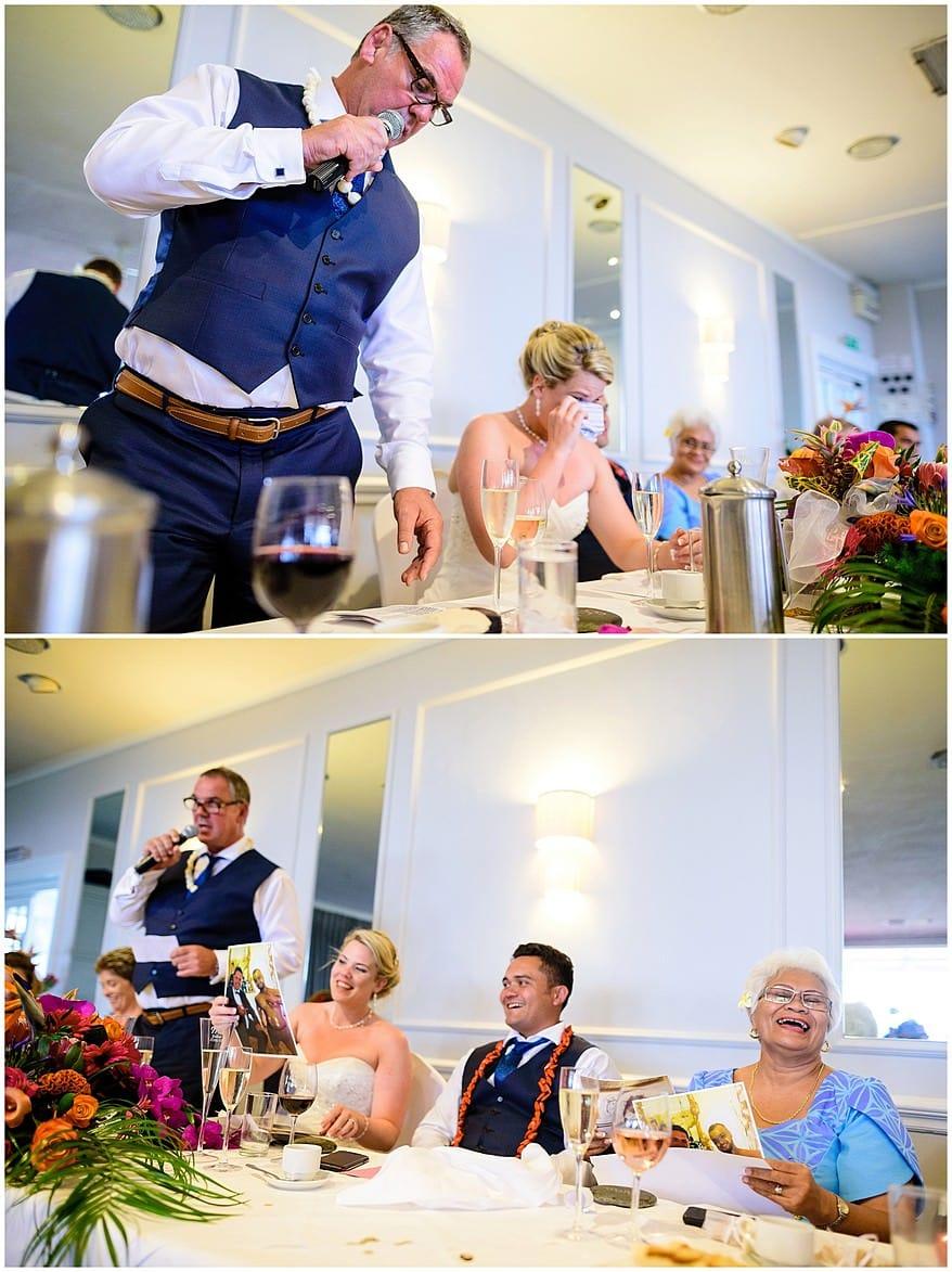 Happy wedding speeches at Merchants manor
