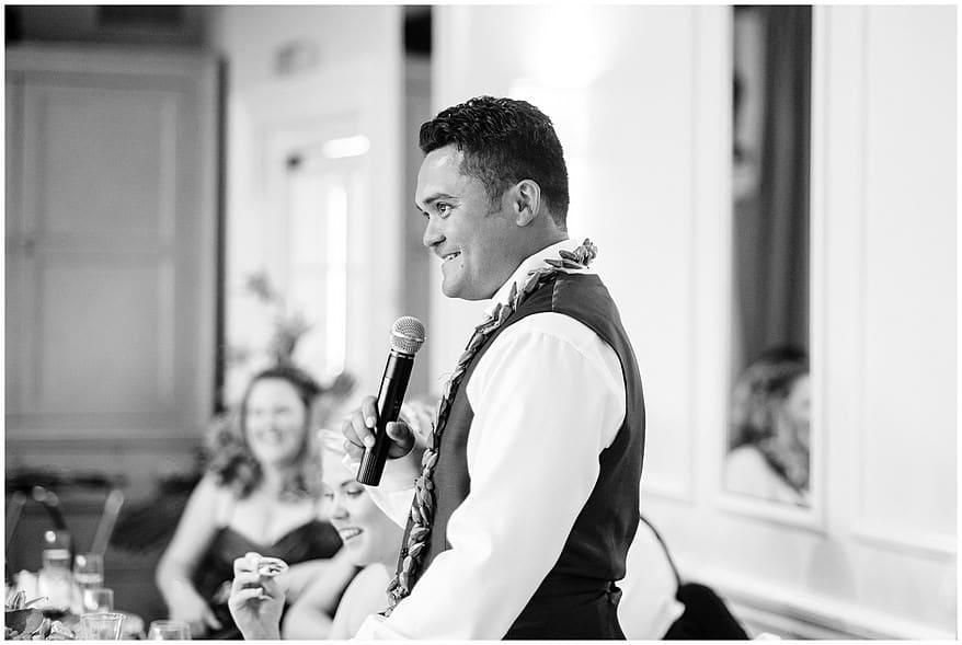 Samoan themed wedding speeches at the merchants manor