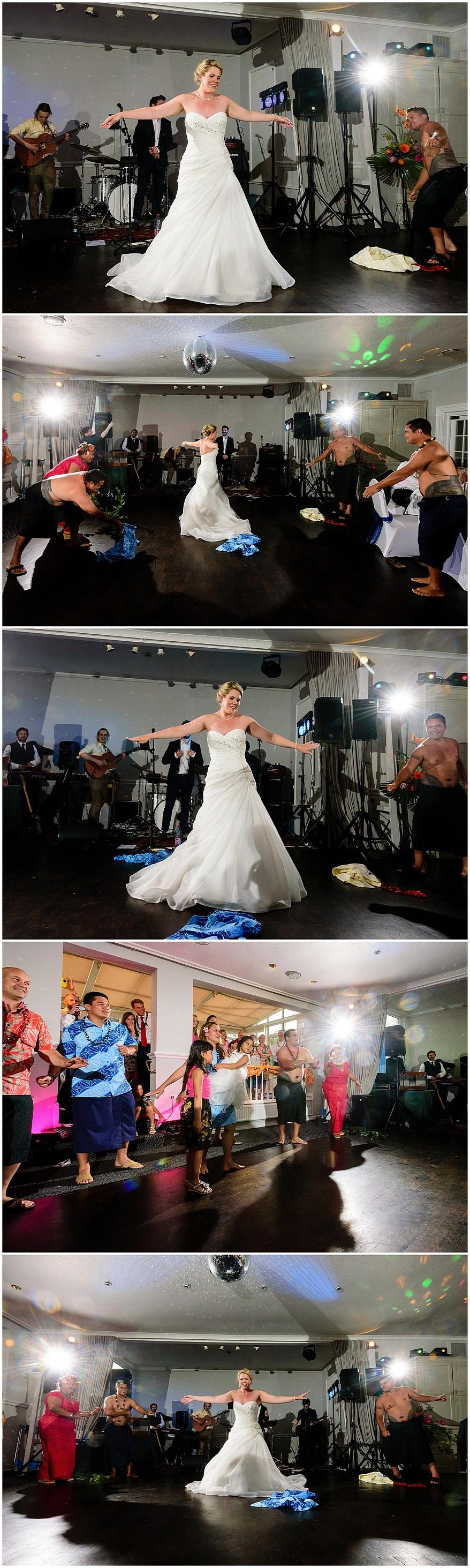 Samoan first dance at the Merchants manor hotel
