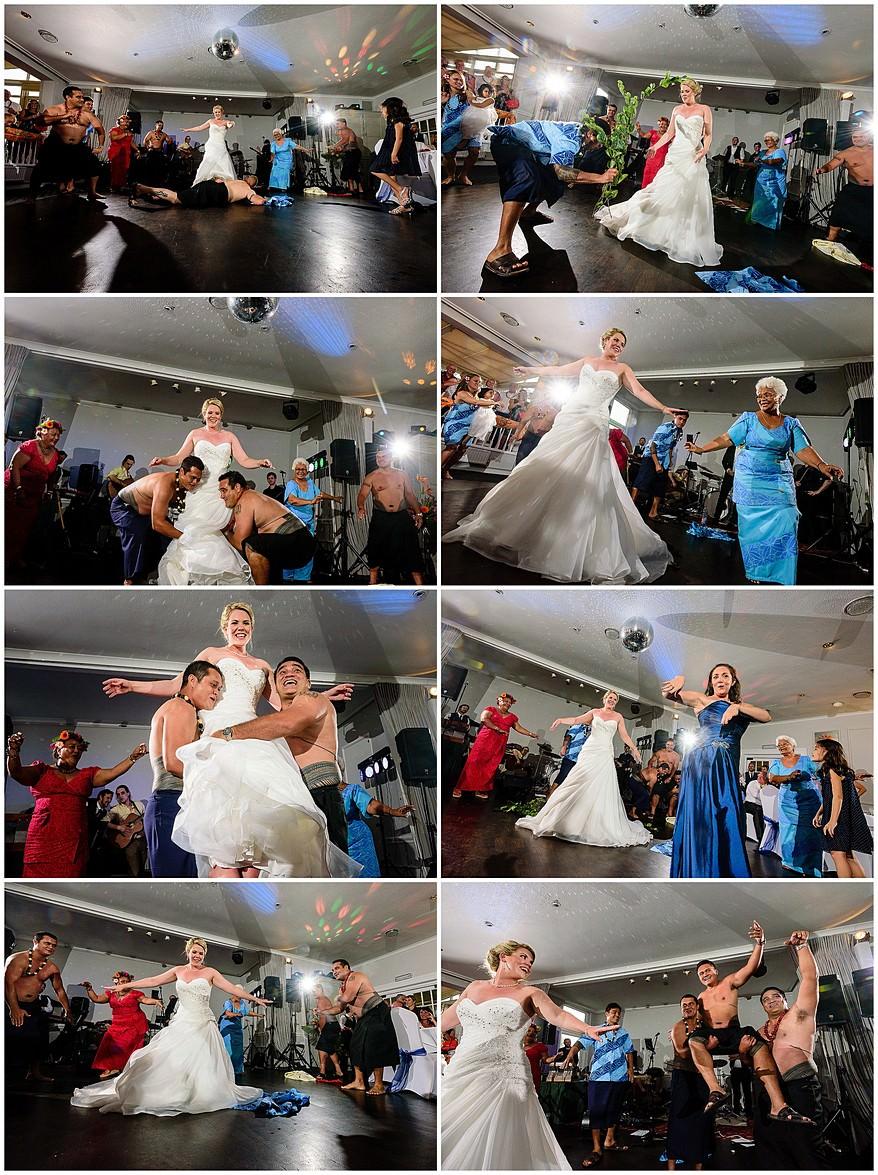 Samoan trible dancing at a wedding