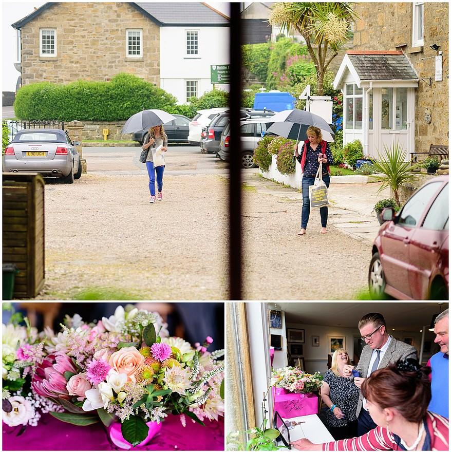 Bridal preperation for Carbis Bay hotel wedding