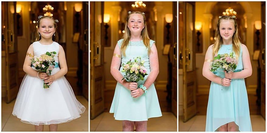 Flowergirls at a Carbis bay hotel wedding