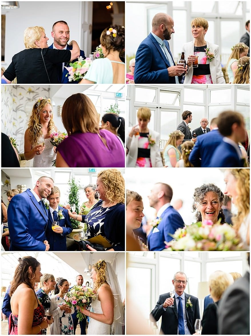 candid wedding photographs at the carbis bay hotel