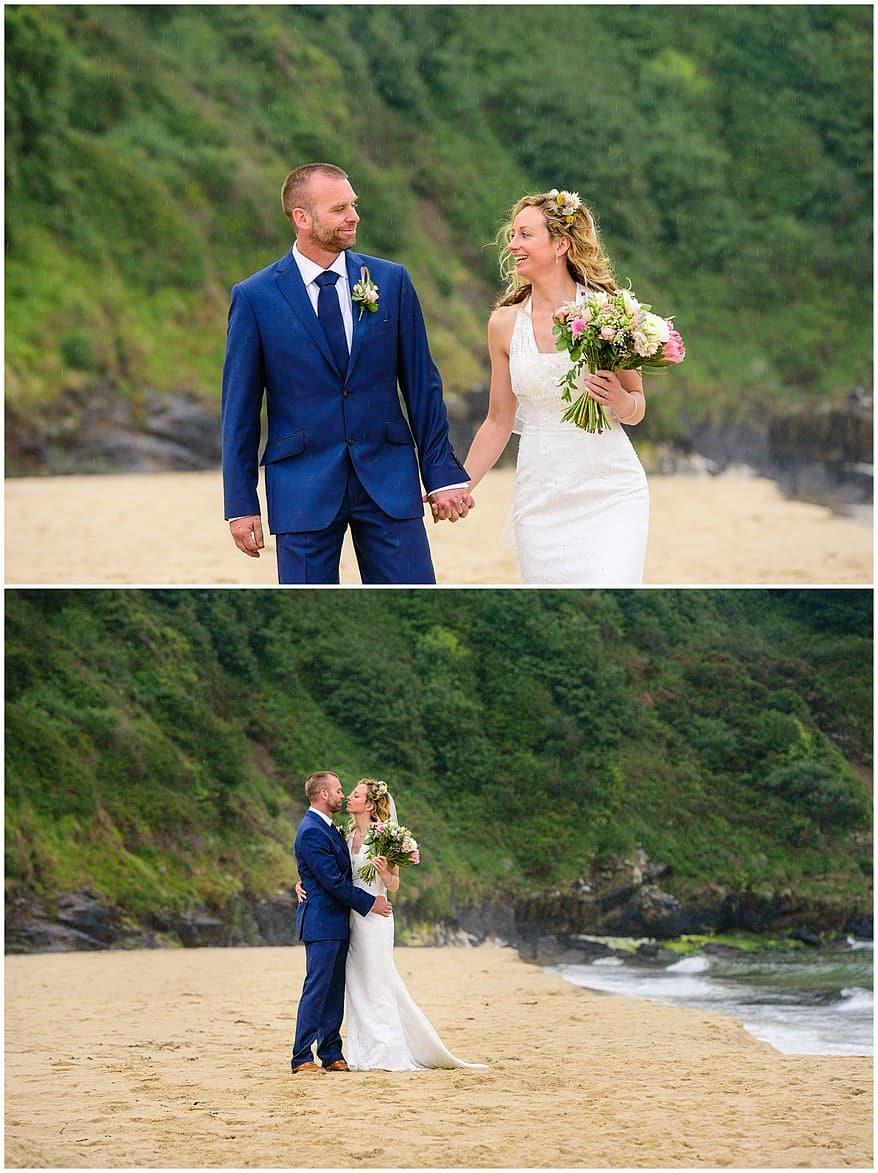 wedding photographs on Carbis bay beach