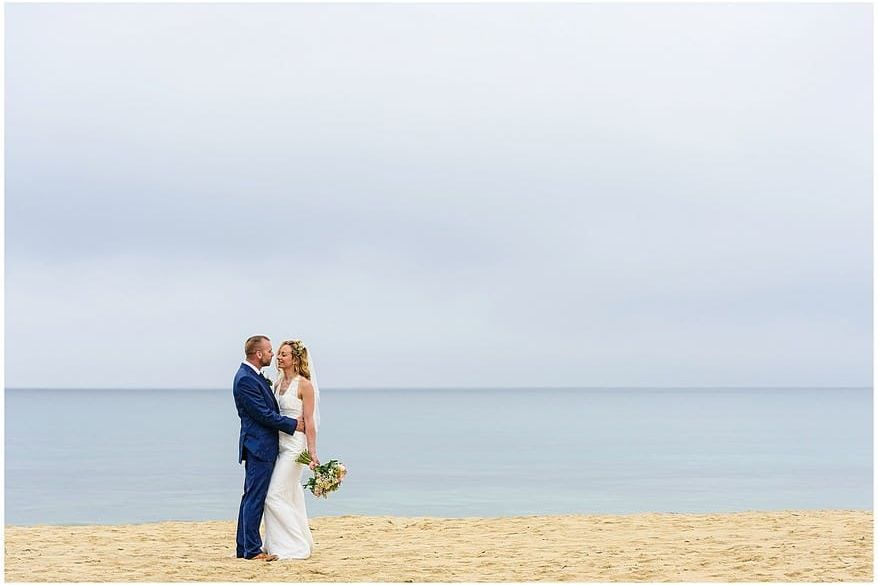 carbis bay beach wedding photographs