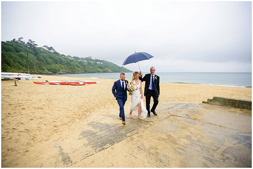 wet weather wedding at the carbis bay hotel