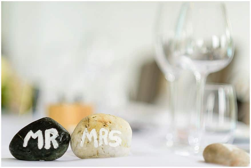 beach stones used as wedding favours at the carbis bay hotel