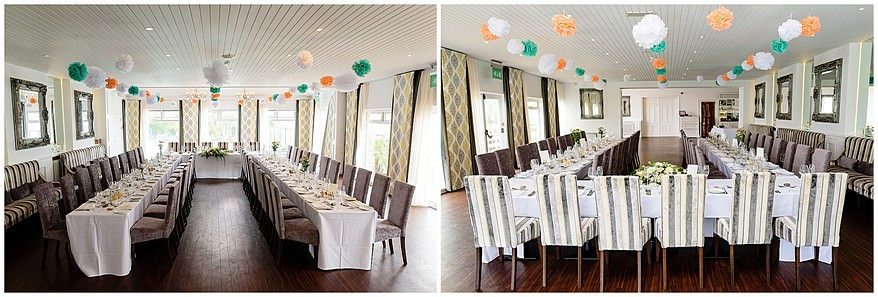 Wedding tables at the carbis bay hotel