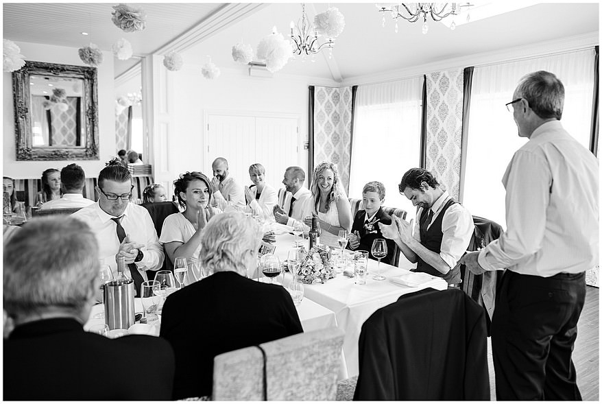Wedding speeches at the carbis bay hotel