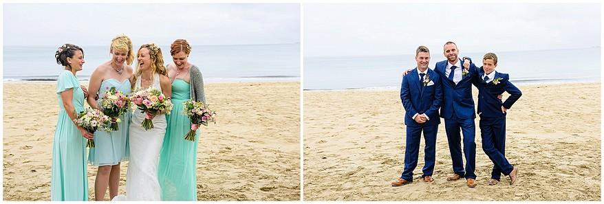 formal wedding photographs at the carbis bay beach wedding