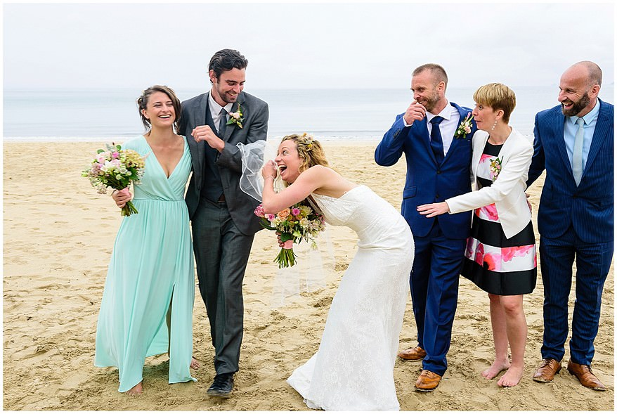 family portrait photographs at carbis bay hotel wedding