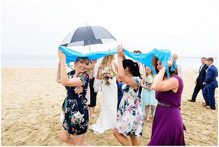 wet weather during a wedding at carbis bay hotel
