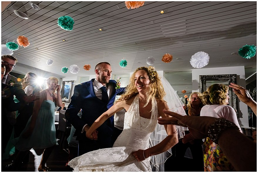 bride and groom dancing at their carbis bay hotel wedding