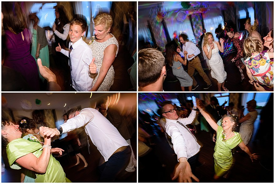 wedding guest dancing at the carbis bay hotel wedding