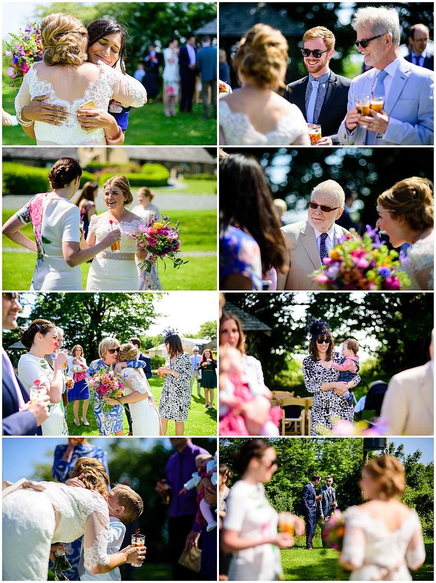 Candid wedding photographs being captured by a Trevenna barns wedding photographer